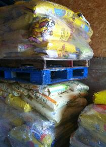 Cat litter is donated weekly
